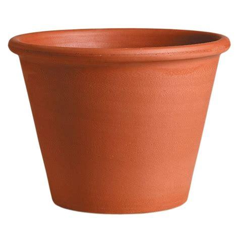 terracotta pots deroma 8 1 4 in round terra cotta clay vasum pot t dr 50