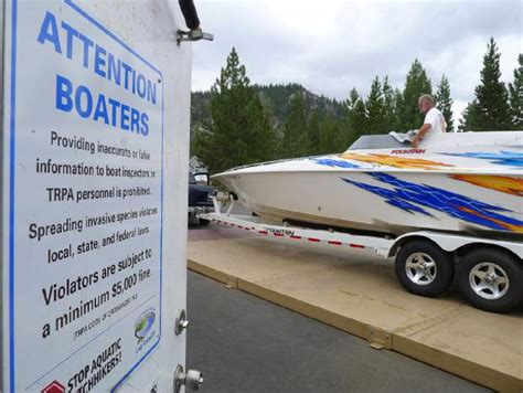 lake tahoe boat inspection stations boaters encouraged to arrive at lake tahoe inspection
