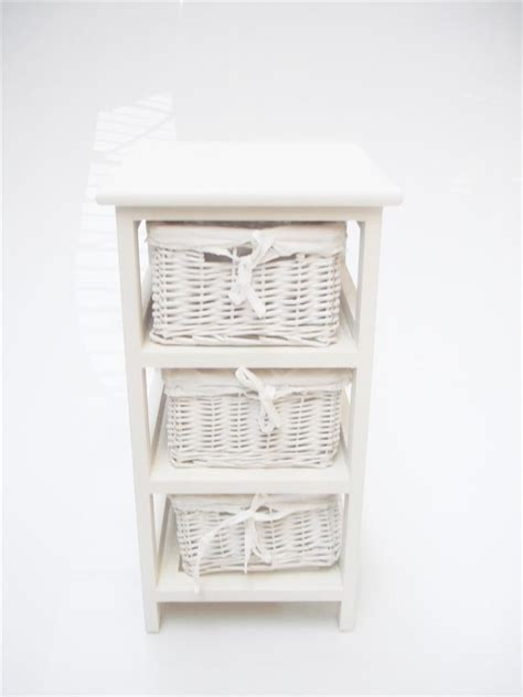 Bathroom Chests Storage White Narrow Bedside Cabinet 3 Chest Of Draws Drawer Bathroom Storage Unit