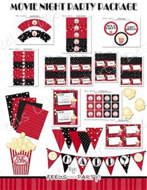 printable hollywood party decorations free movie night party printables by printabelle party