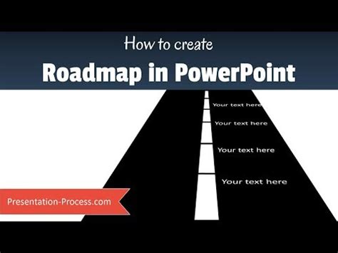 How To Create Simple Powerpoint Roadmap Youtube How To Draw Roadmap In Powerpoint