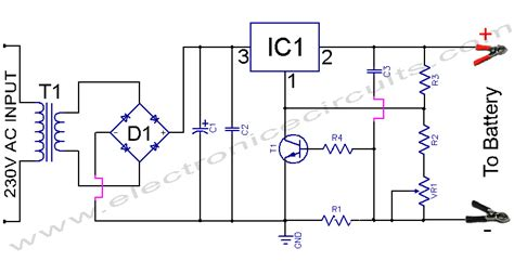 lm317 battery charger circuit diagram 12v battery charger circuit schematics using lm317