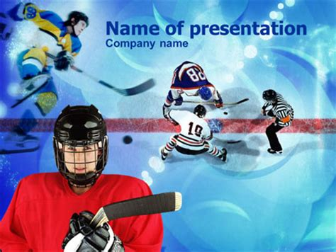 powerpoint templates free download hockey hockey game powerpoint template backgrounds 00810