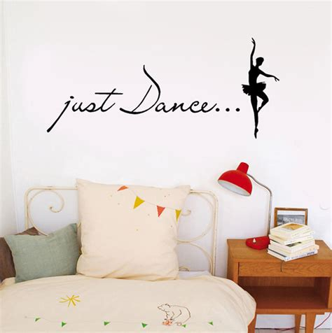 Just Home Decor Just Wall Stickers Home Decor Ballet Dancer Wall Decal Studio Wall Decoration