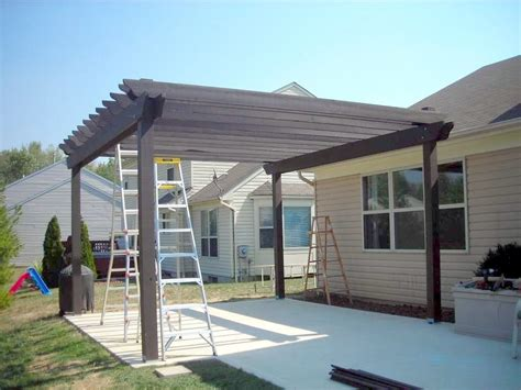 how to build a pergola on concrete wooden roofing design modern house