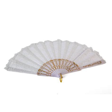 wedding fans in bulk bulk lot x 24 white lace silk fan