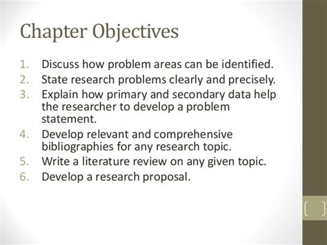 how to write a problem statement for research paper chapter 3 the research process the broad problem area and