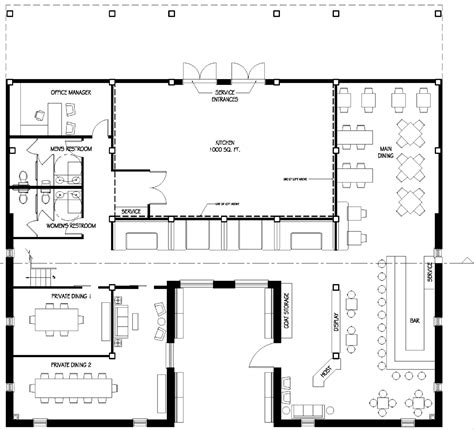 desain layout cafe restaurant floor plans restaurant floor plan change