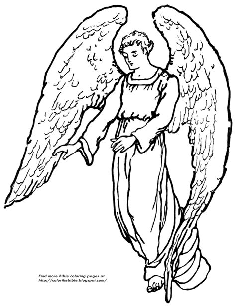 coloring pages of guardian angels a guardian angel coloring page color the bible