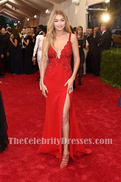 Gigi Hadid Neckline Dress gigi hadid v neckline lace evening prom