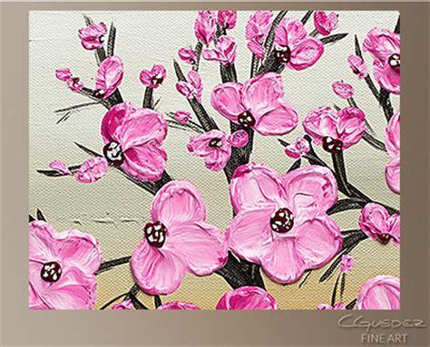 Wine Wall Murals poppy flower painting cherry blossom flower and tree