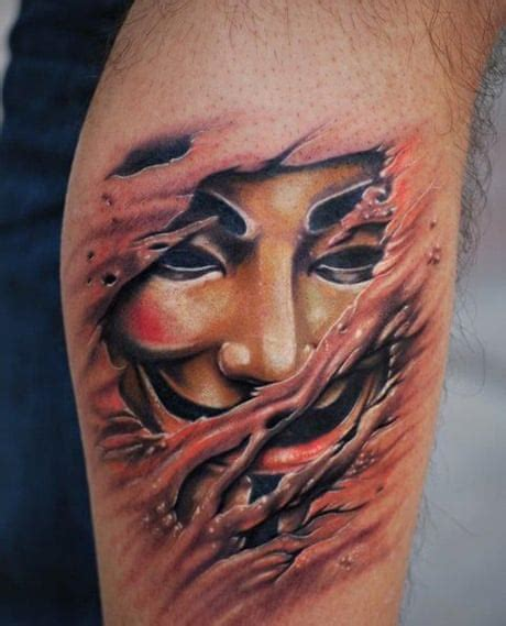 anonymous mask tattoo tech tattoos do you pac enough to get it inked