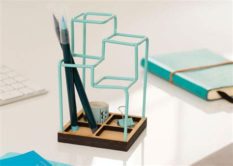 Desk Organizer Design with A 3d Desk Organizer That Looks Like A Sketch Desk Tidy Desk Caddy And Pen Holders
