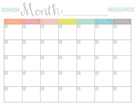 Monthly Calendar Free Printable Free Downloadable Calendar Template
