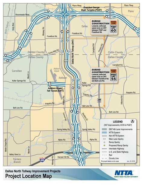 texas tollway authority map additional construction on dallas tollway improvements begins next week driving texas