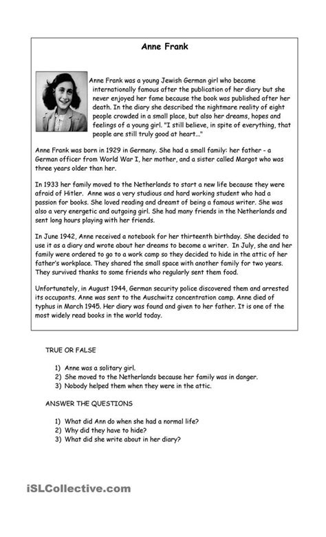 printable english worksheets high school worksheet anne frank worksheets grass fedjp worksheet