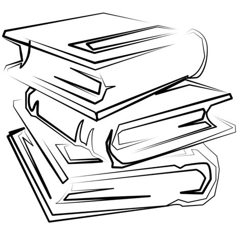 drawing on the finding my way by books line drawing of book clipart best