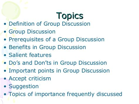 Gd Topics For Mba Finance by Benefits Of Discussion