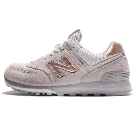 womens grey sneakers new balance wl574chc b grey gold running shoes