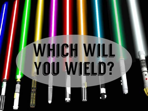what color lightsaber what color would your lightsaber be playbuzz