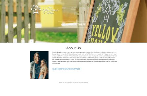 yellow house salon the yellow house salon website design cobra joe design