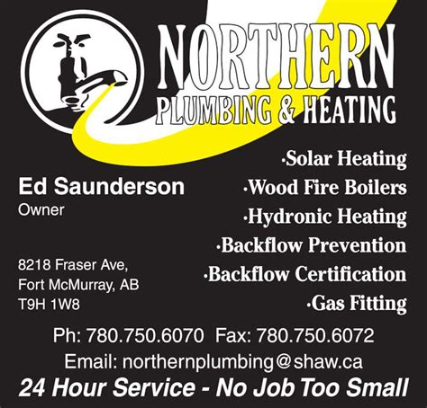 Plumbing And Heating Fort Mcmurray by Northern Plumbing Heating Fort Mcmurray Ab 8212