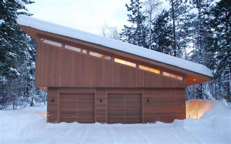 slant roof mazama guest cabin modern garage and shed seattle