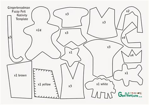felt gingerbread template creative children s ministry guest post