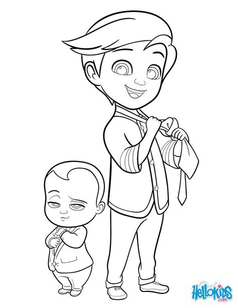 coloring pages baby boss boss baby and tim coloring pages hellokids com