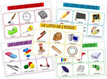 themes pour photo de classe le loto des objets de l 233 cole dessine moi une histoire