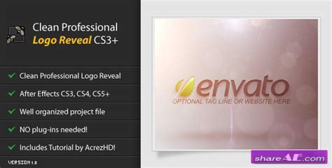 templates for after effects cs3 free download clean professional logo reveal cs3 after effects project