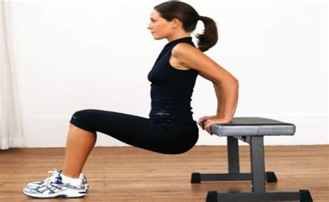 triceps bench dip 5 tone muscles without weights muscle toning exercises