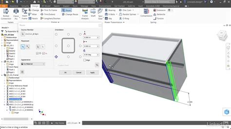 design frame inventor reusing frame members autodesk inventor accelerating