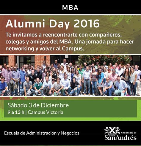 Mba Alumni by Mba Alumni Day 2016 Universidad De San Andr 233 S