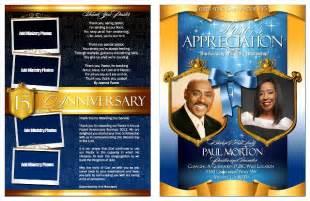 free pastor anniversary program templates pastor and anniversary celebration program bulletins
