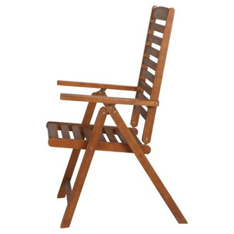 reclining garden chairs tesco buy windsor wooden folding recliner chair from our garden