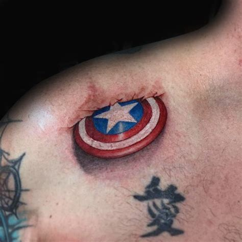 70 captain america tattoo designs for men superhero ink