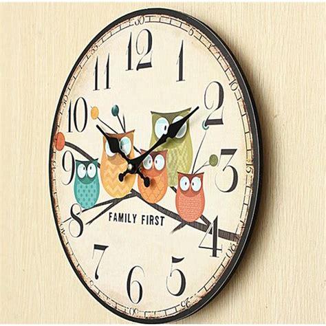 Jam Dinding Bulat Style Eropa 30cm jam dinding bulat style eropa 30cm owl wooden multi color jakartanotebook