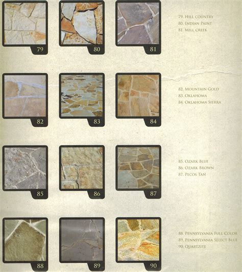 flagstone stone colors