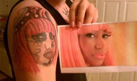 nicki minaj tattoos 3 portrait style nicki minaj fan tattoos