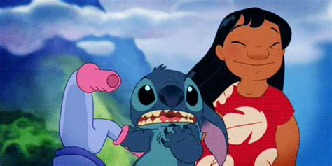lilo and stitch hug gif find share on giphy azul animated gif