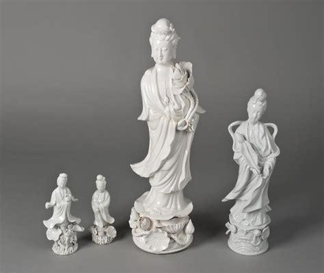 blanc de chine l 4 chinese blanc de chine guanyin figures