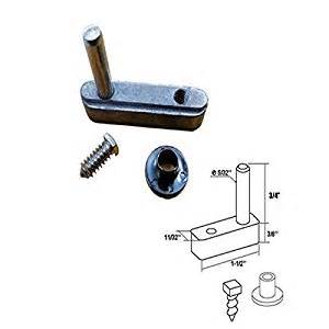 hinged shower door parts pivot block with 3 4 quot pin for framed swing shower door