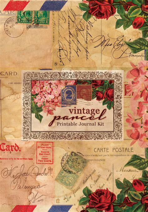 printable junk journal printable vintage junk journal kit vintage parcel by
