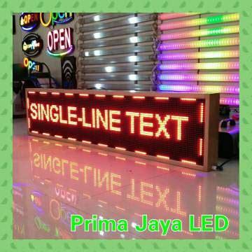 Display Led Running Teks 165 37 Merah display led 169 x 37 cm outdoor prima jaya led