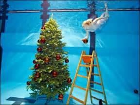 weihnachtsbaum im pool