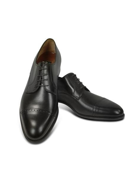 cap toe oxford shoes fratelli rossetti black calf leather cap toe oxford shoes