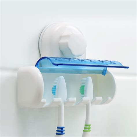 Wall Suction Toothbrush Holder plastic wall mounted suction cup bathroom toothbrush