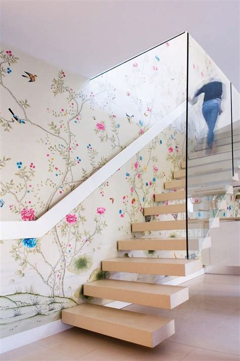 Swoon Worthy Paper Combos by 10 Swoon Worthy Chinoiserie Wallpapers Modern Stairs