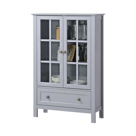 glass door cabinet walmart homestar 2 door 1 drawer glass cabinet walmart ca